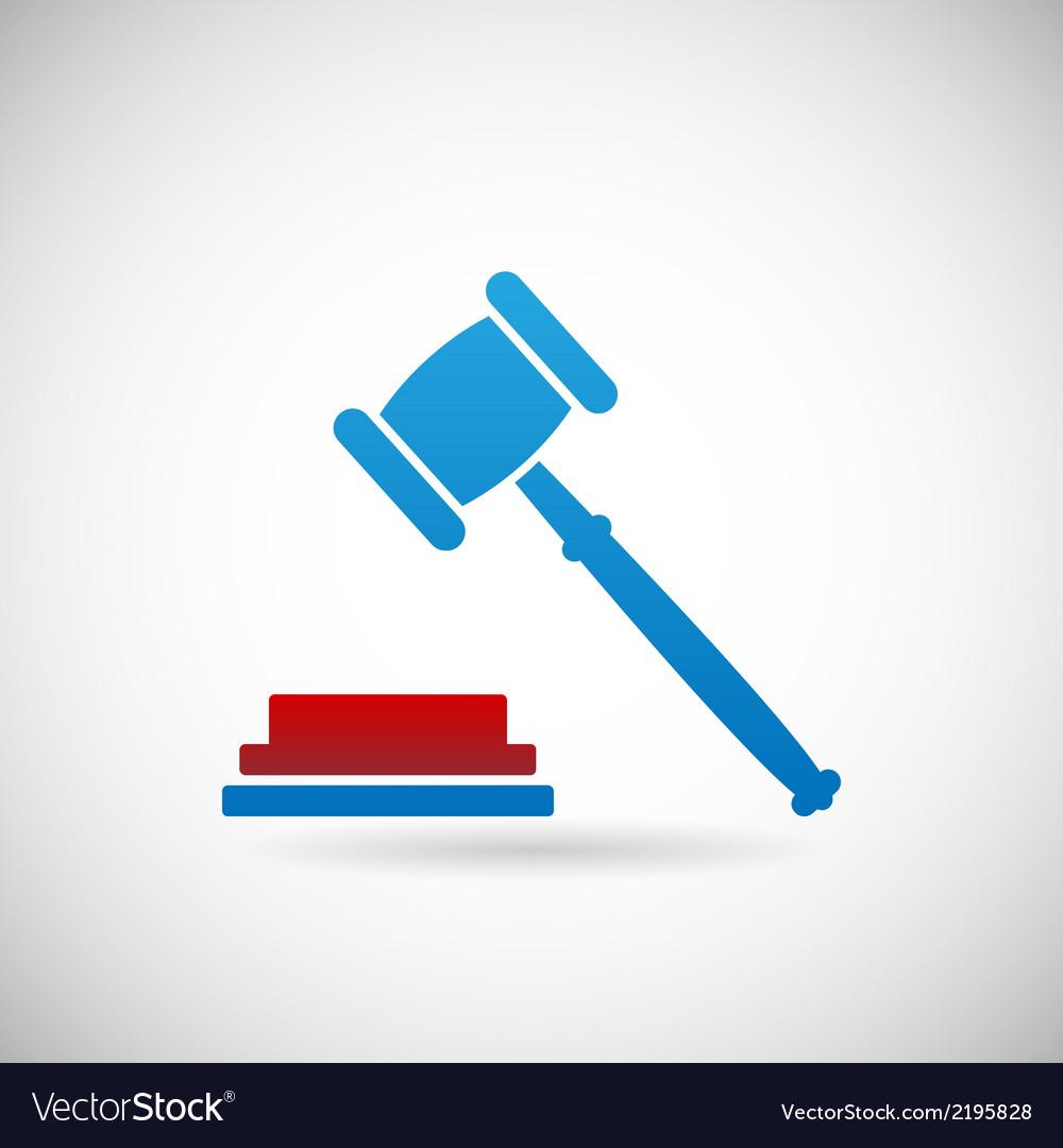 Judgment Verdict Symbol Judge Gavel Icon Template