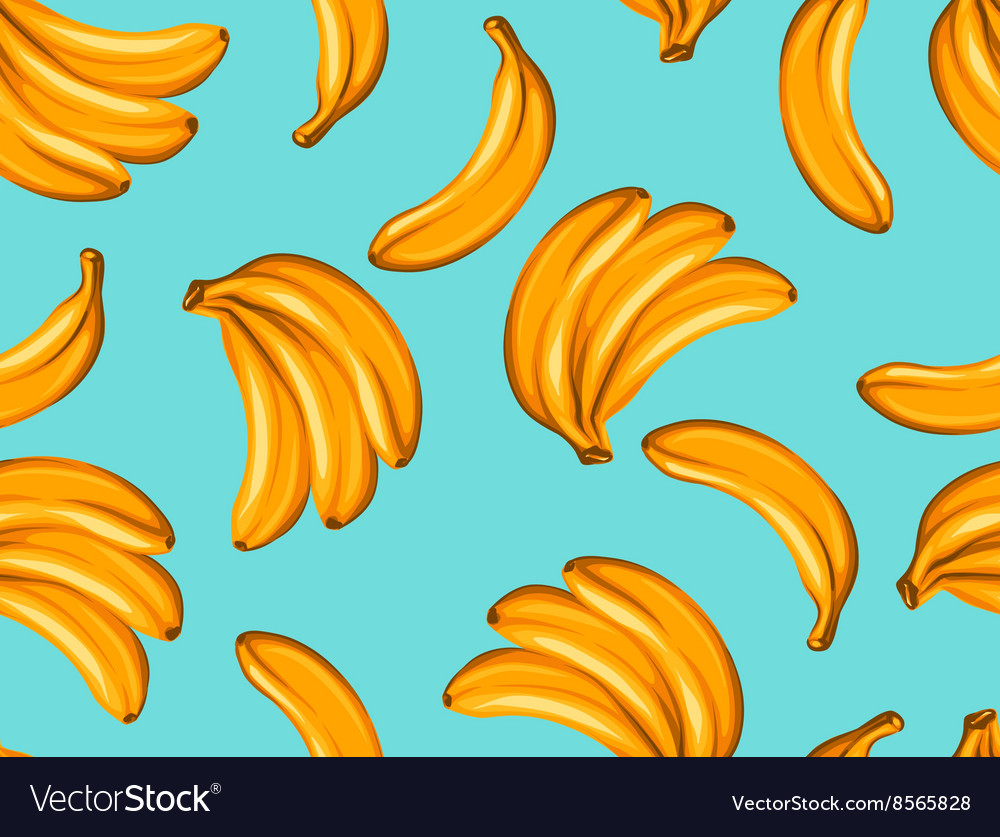 Seamless pattern with bananas Tropical abstract
