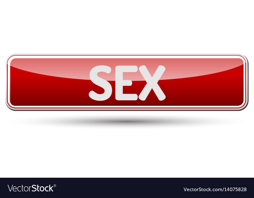 Sex - abstract beautiful button with text