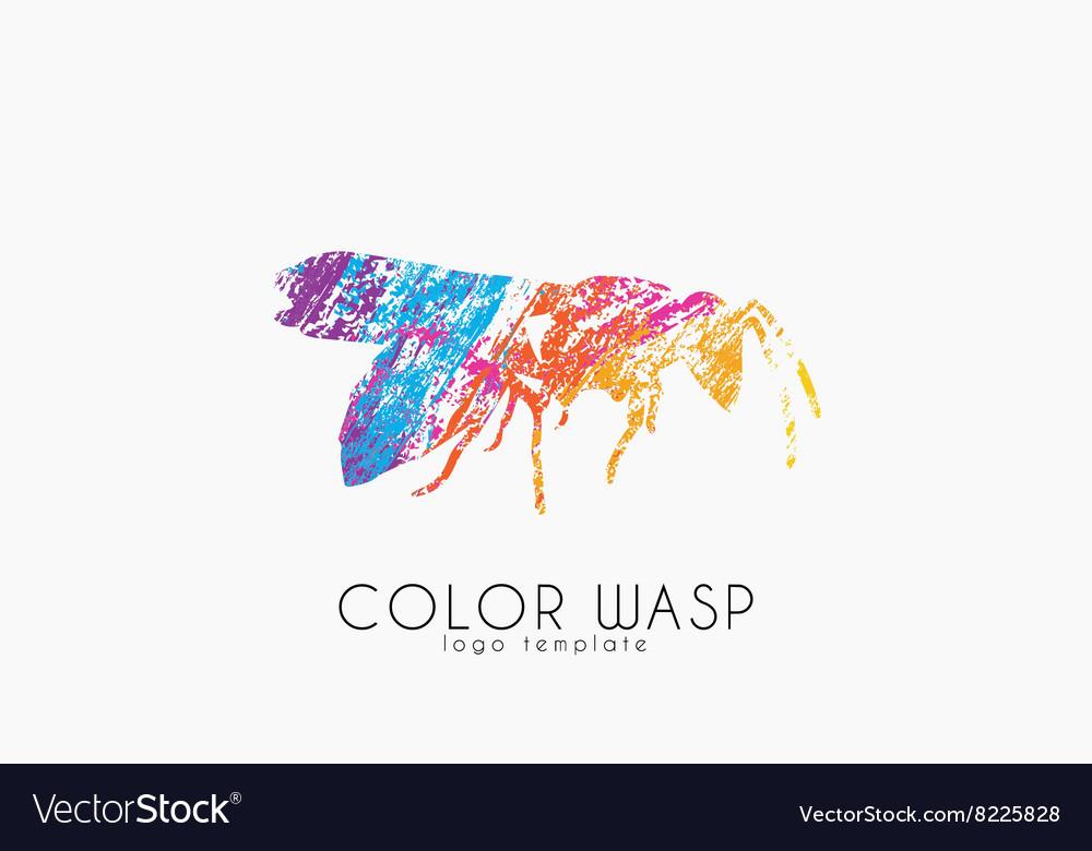 Wasp logo design Color wasp design Creative logo