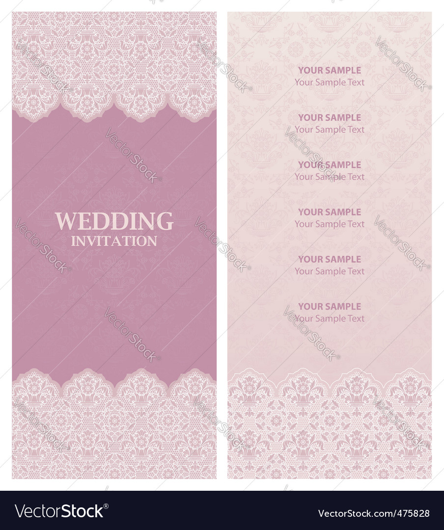 Description wedding invitation ornamentflowers background