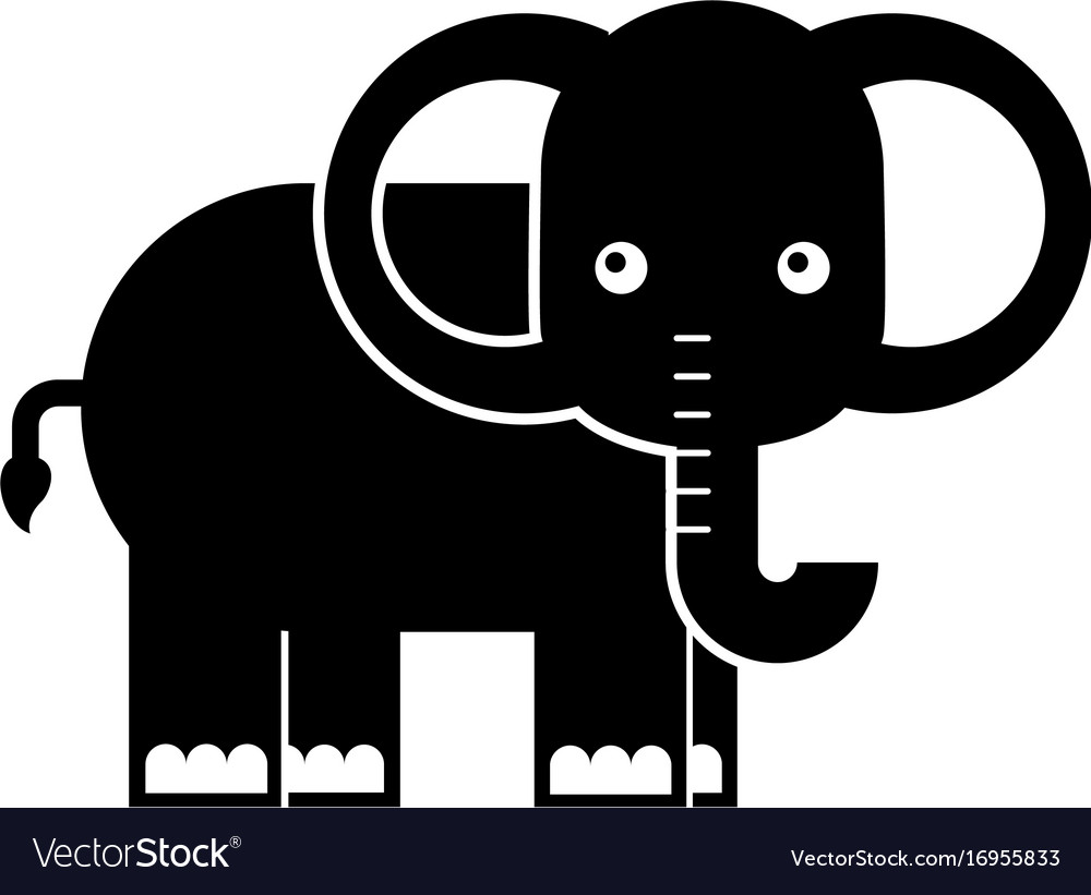 African elephant isolated icon