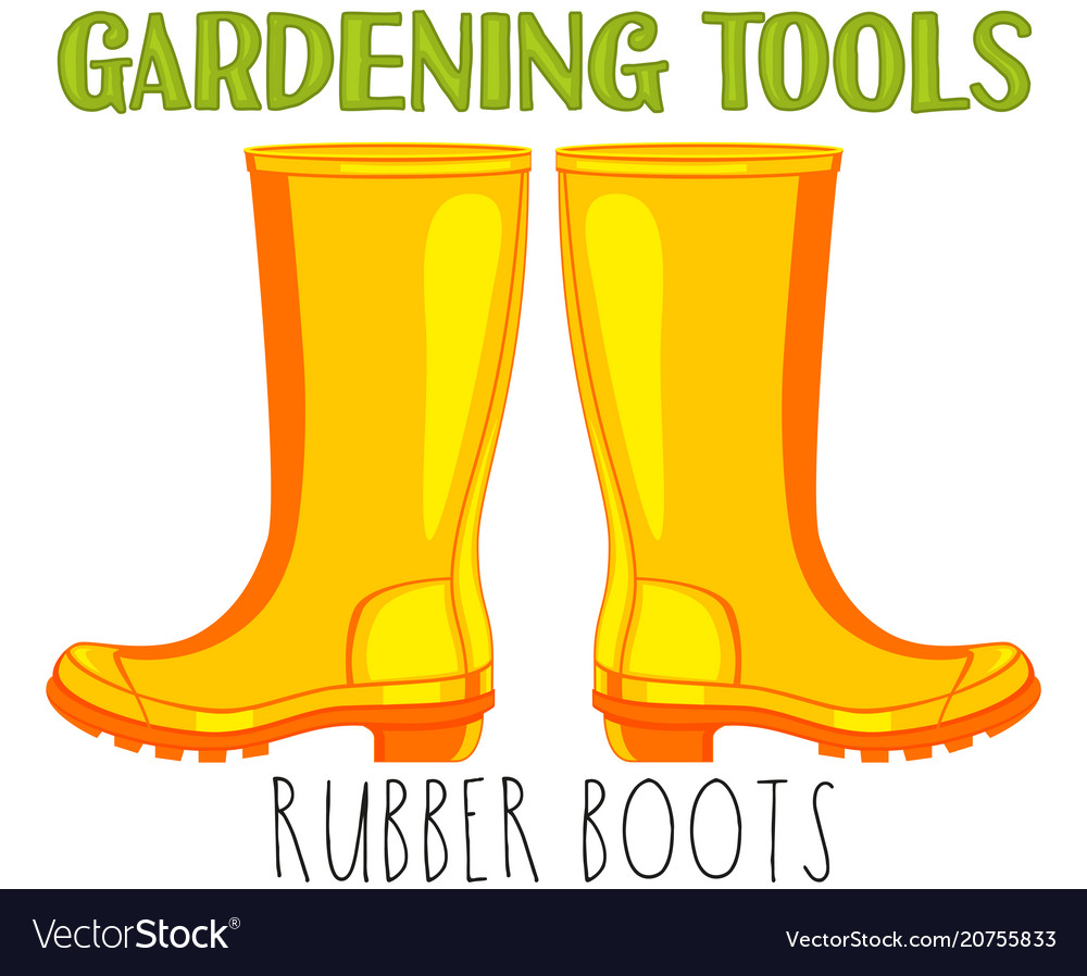 Bright colorful cartoon rubber boots