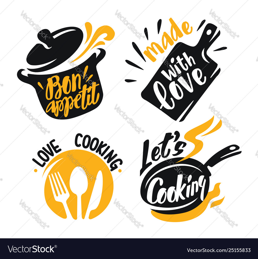 Cooking lettering elements