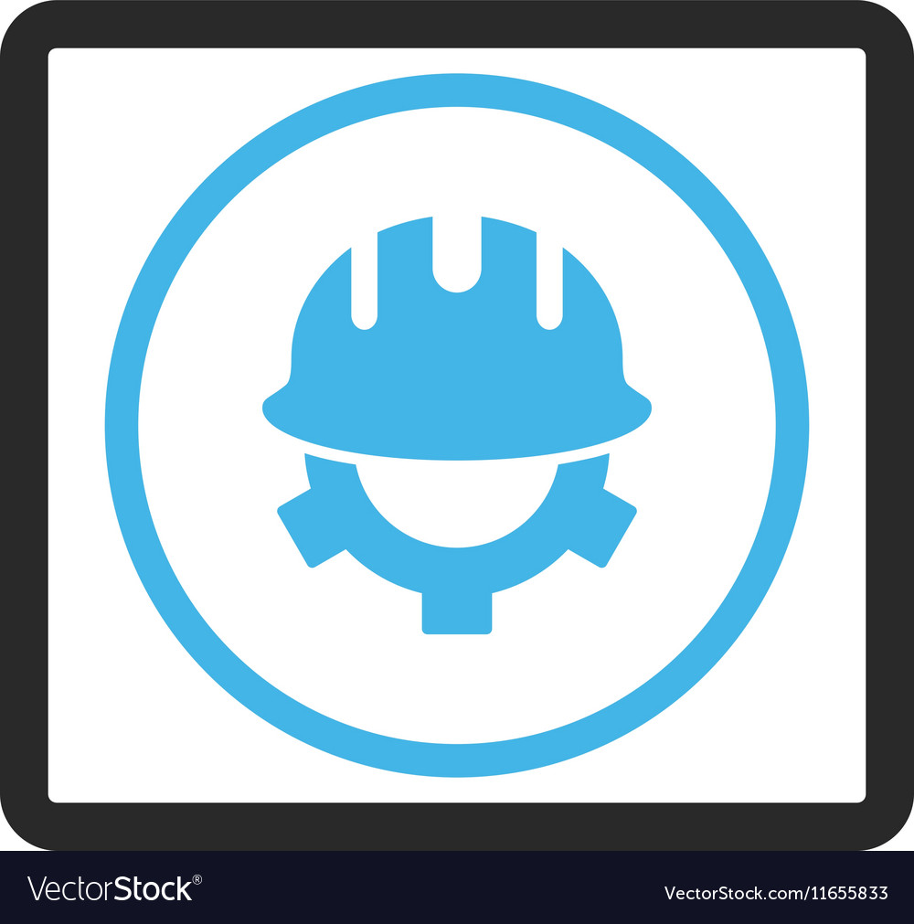 Development Helmet Framed Icon