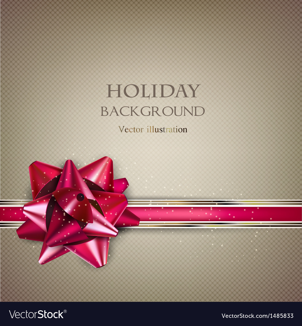 Elegant Holiday background with red bow and place