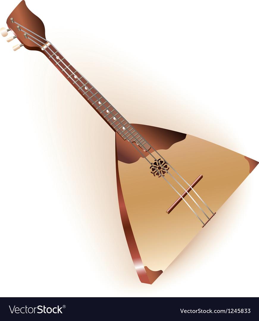 Traditional Russian balalaika vector image