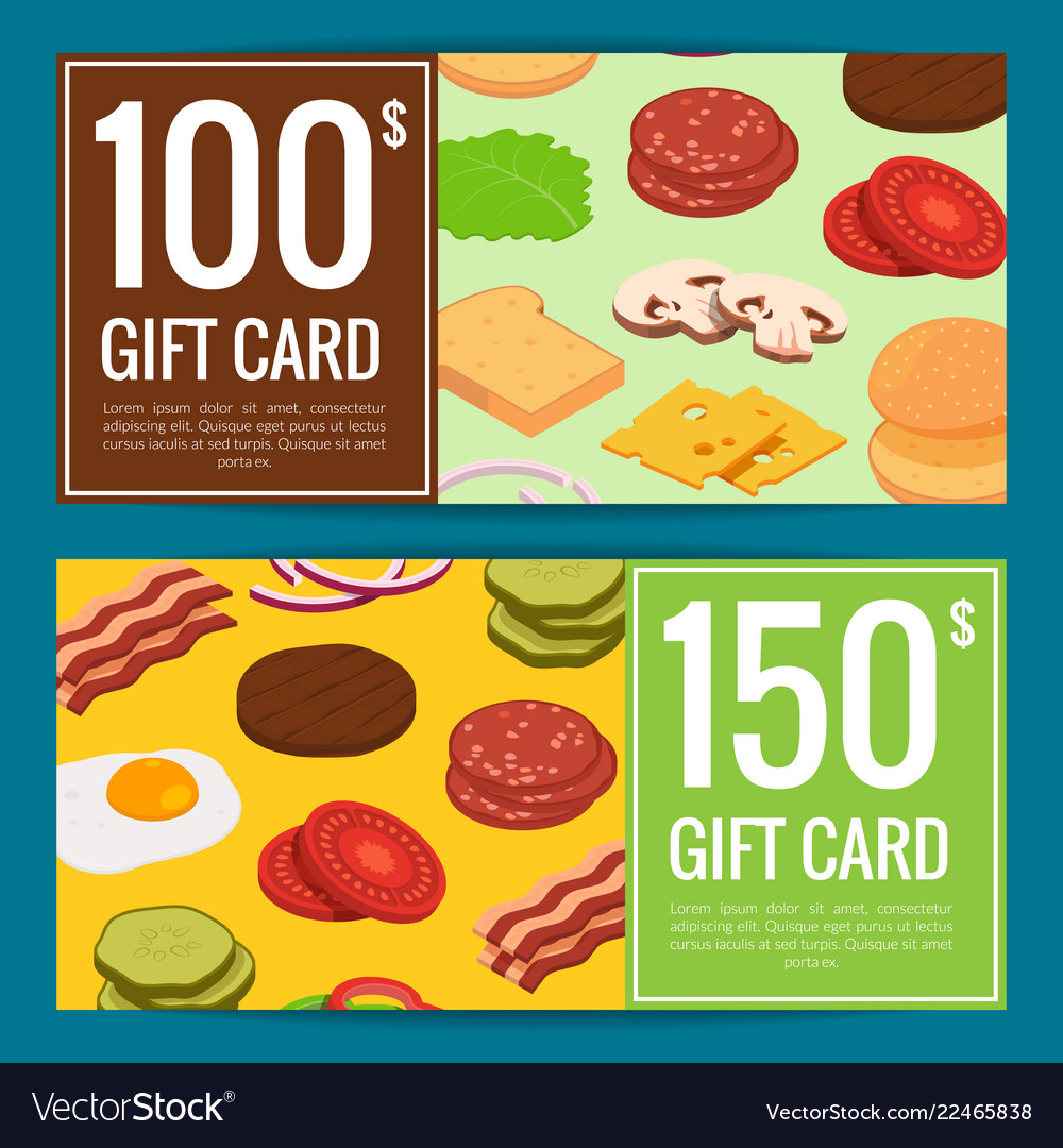 Burger discount or gift templates