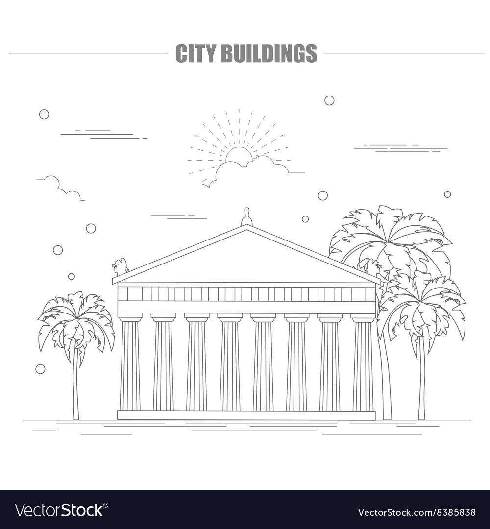 City buildings graphic templateAcropolis