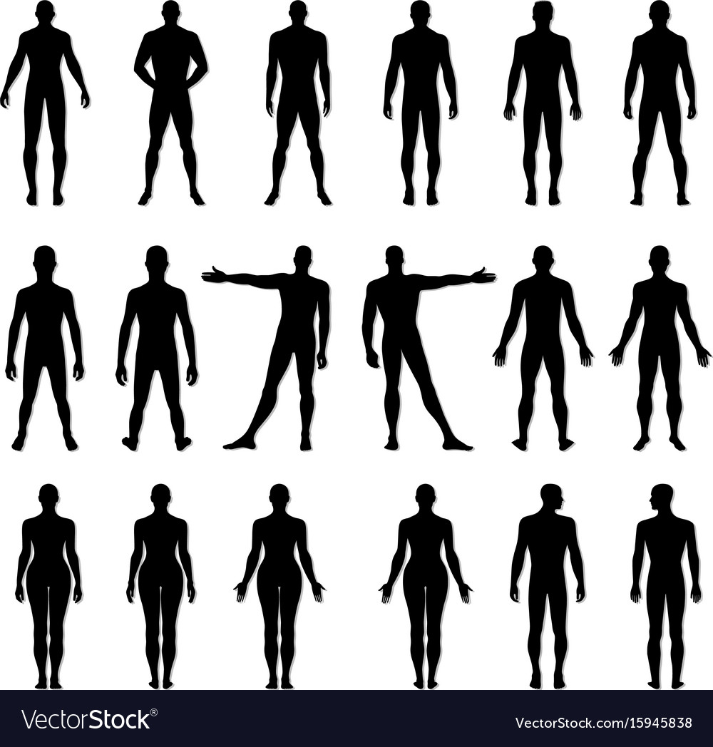 Fashion man woman figure set vector image