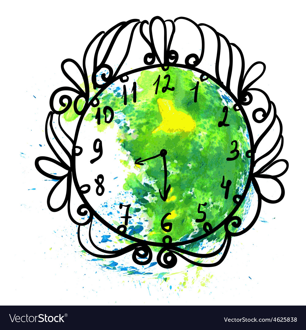 For Earth Hour annual international event vector image