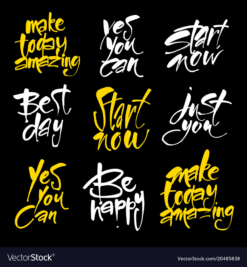 motivational lettering positive message royalty free vector