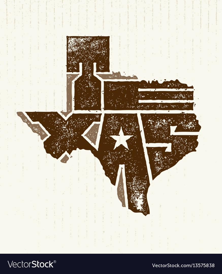 Texas the lone star usa state creative