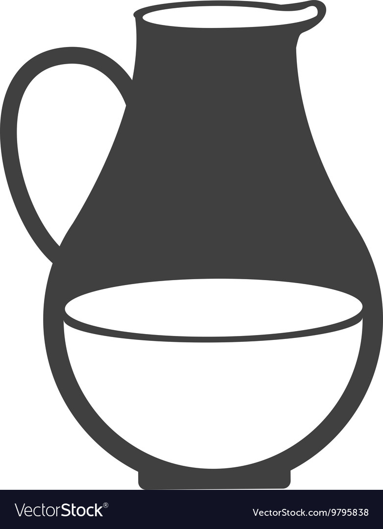 Vase of milk isolated icon design