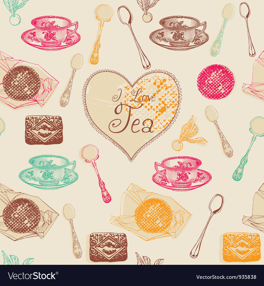 Vintage Love Tea Pattern