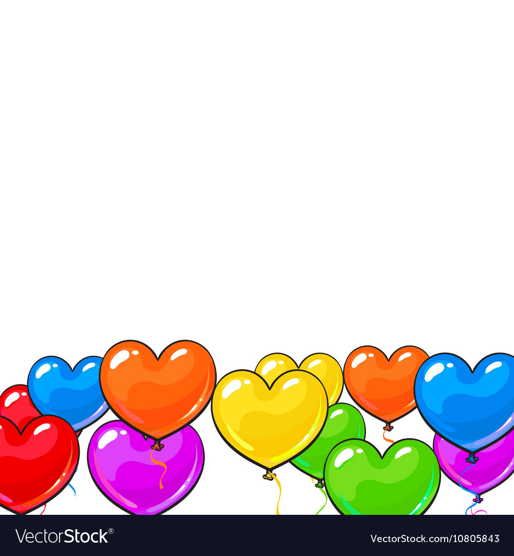 Greeting card template with bright and colorful vector image