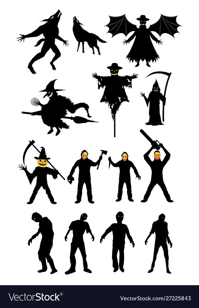 Halloween monster zombie serial killer set