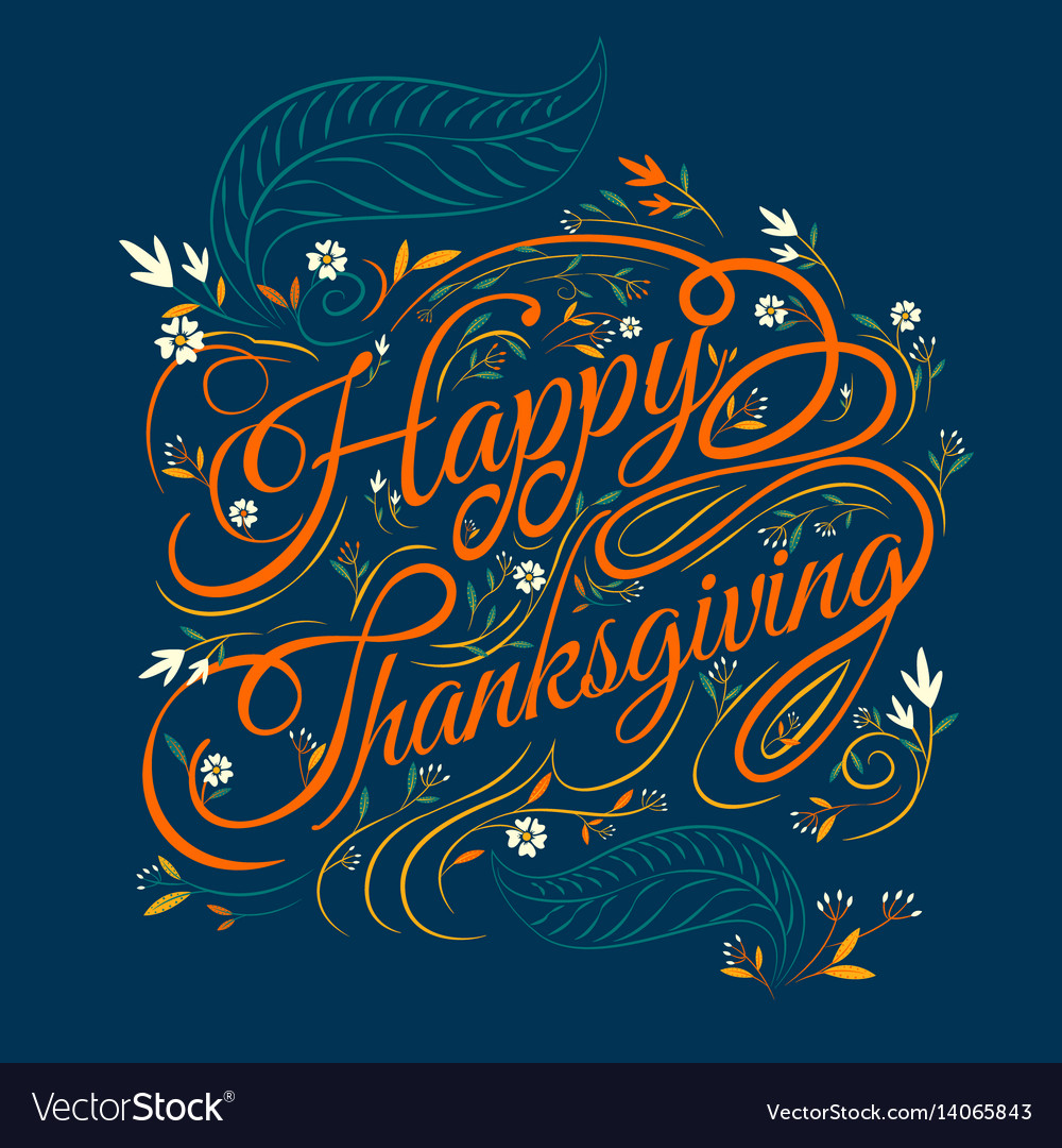 Happy thanksgiving autumn leaves background