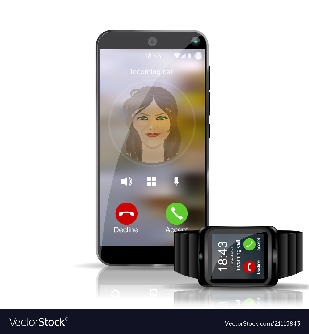 Smart phone and smart watch gadget showing the