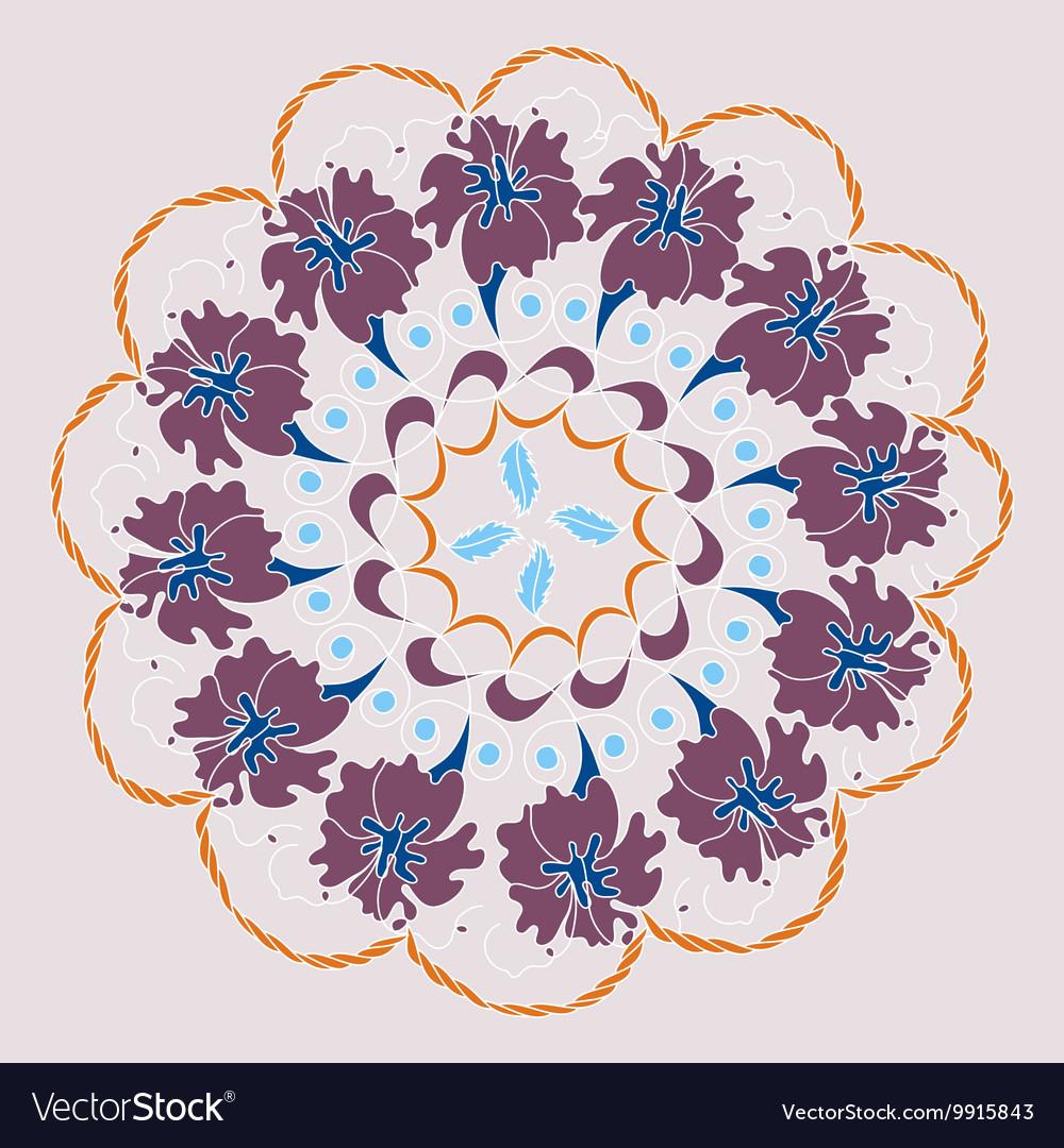 Vintage decorative elements mandala pattern