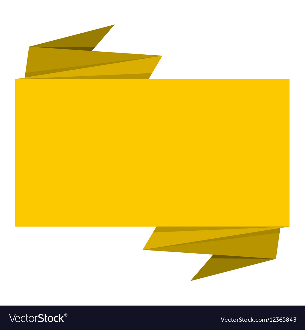 Yellow banner icon flat style vector image
