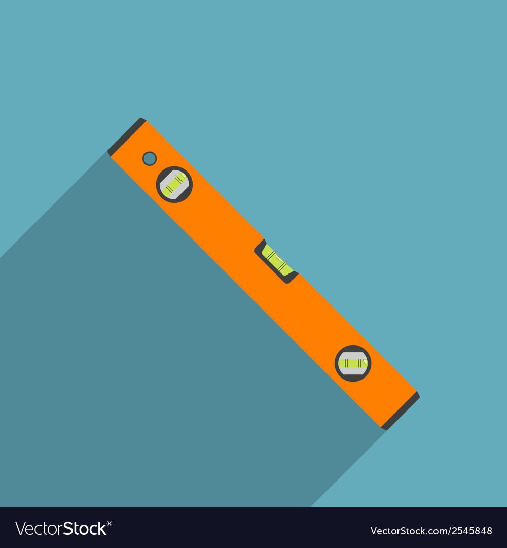 Flat level tool vector image