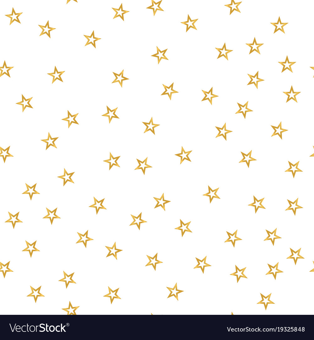 Seamless Pattern Of Decorative Golden Stars On A