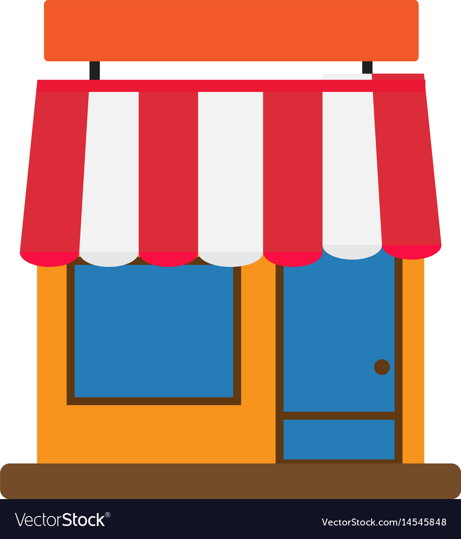Storefront icon on white background storefront