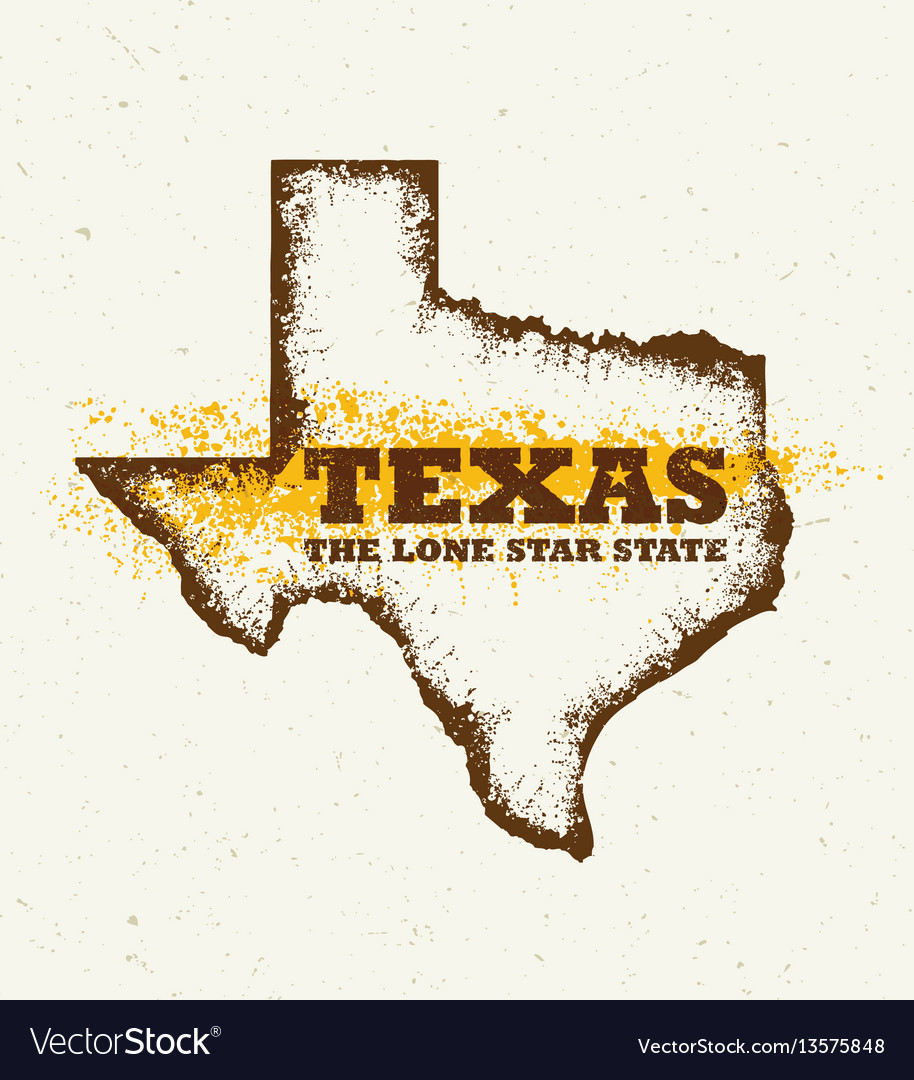 Texas the lone star usa state creative