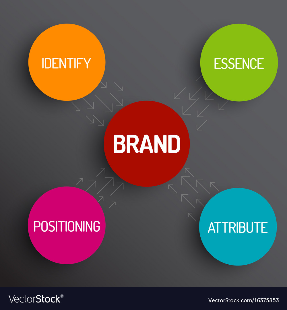 Brand concept schema diagram royalty free vector image brand concept schema diagram vector image ccuart Image collections