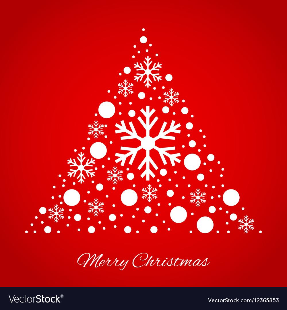 Christmas tree triangular ornament