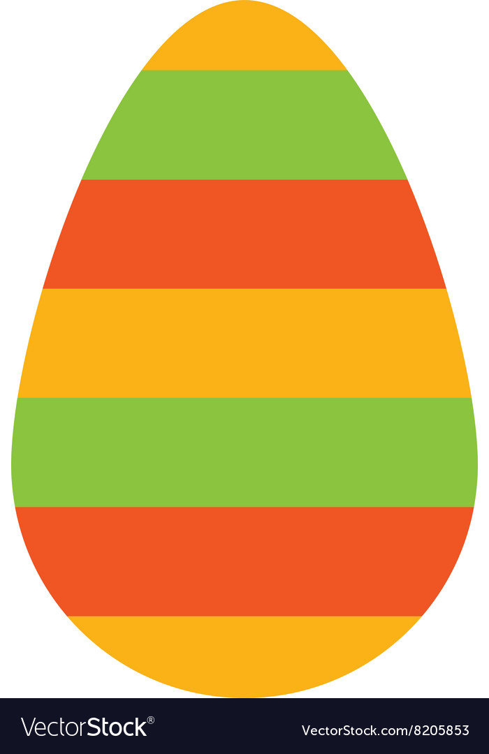 Color easter egg cartoon spring decoration and