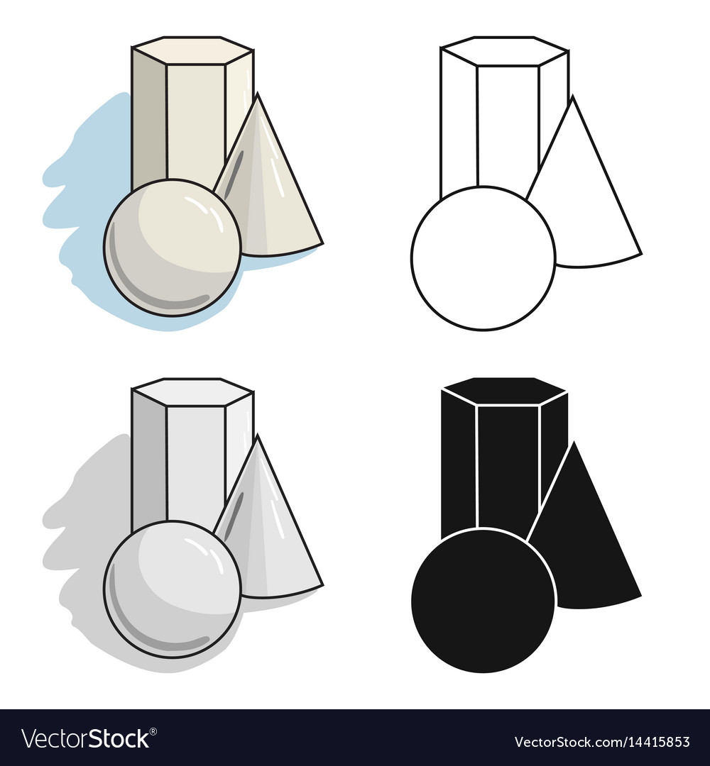 Geometric still life icon in cartoon style