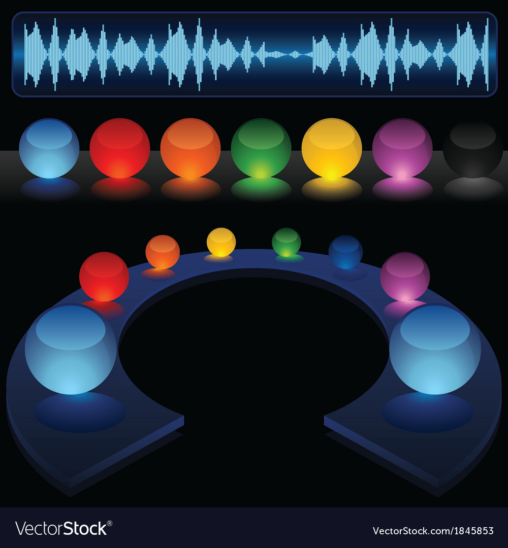 Glass Audio Background vector image