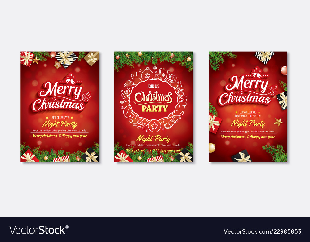 Merry christmas greeting card and party