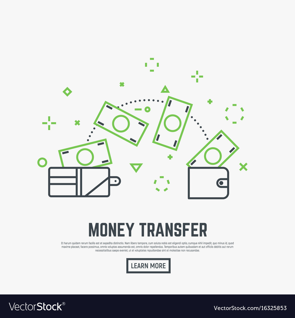 Money transfer concept