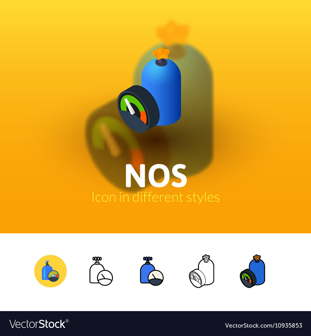 NOS icon in different style
