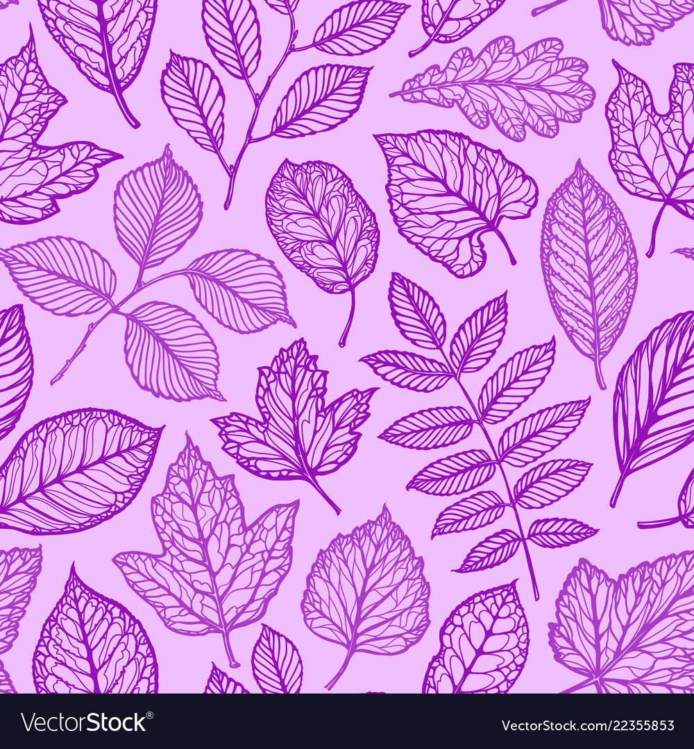Seamless floral pattern nature leaves concept