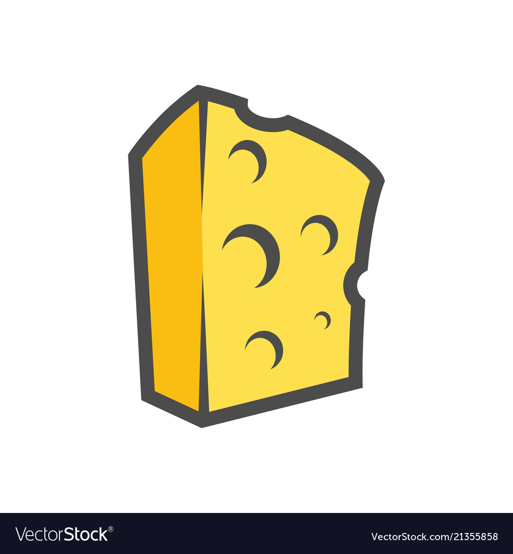 Block of cheese clipart for icon or