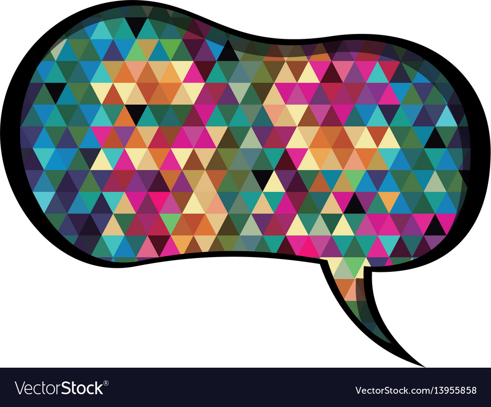 Colorful speech with shape of peanut and abstract
