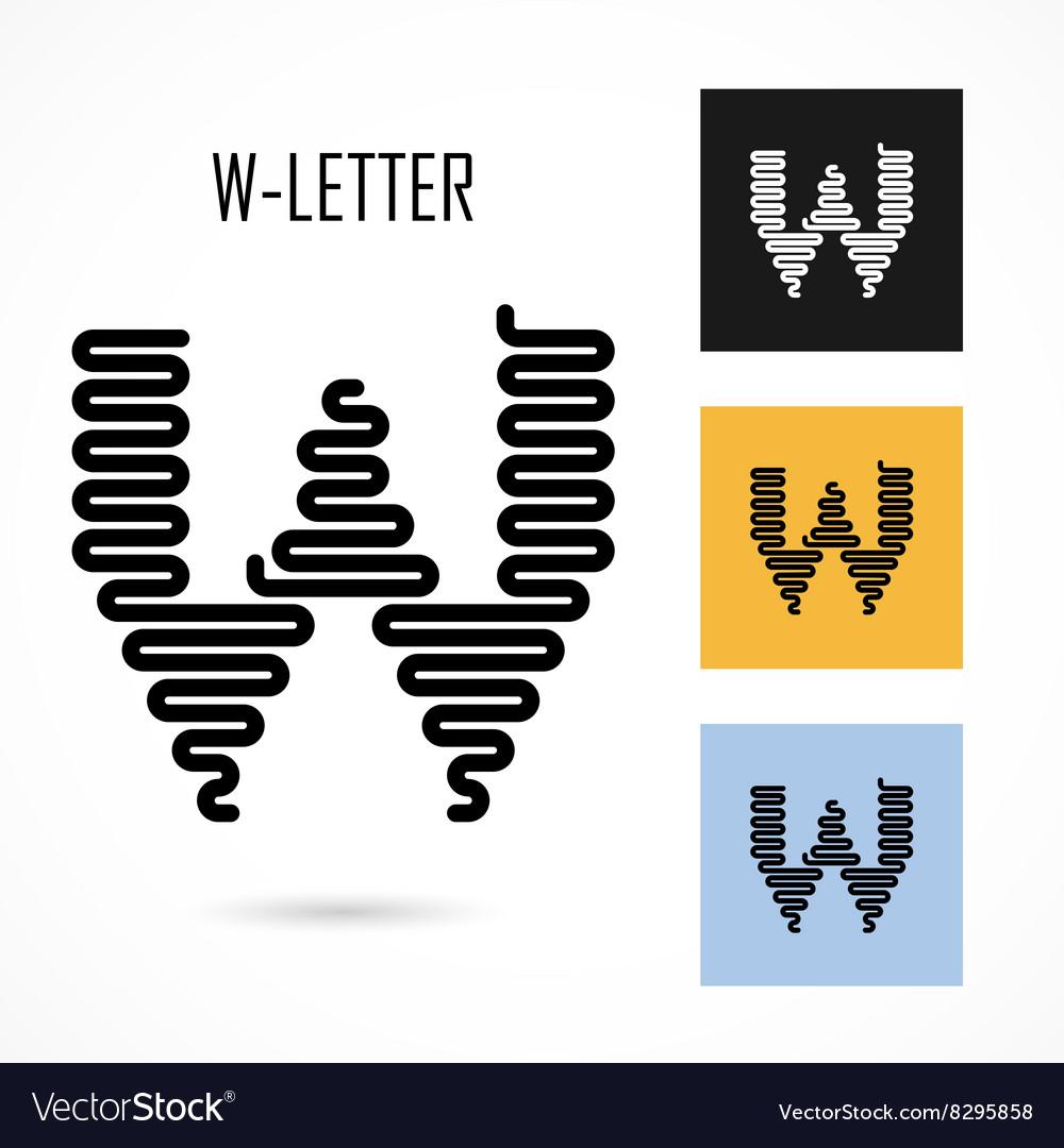 Creative W - letter icon abstract logo design