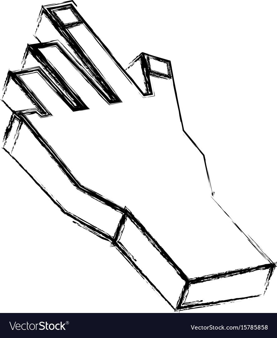Human hand 3d
