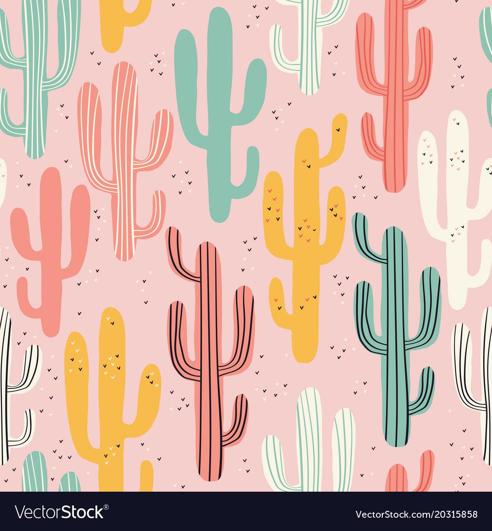Long multicolored cacti