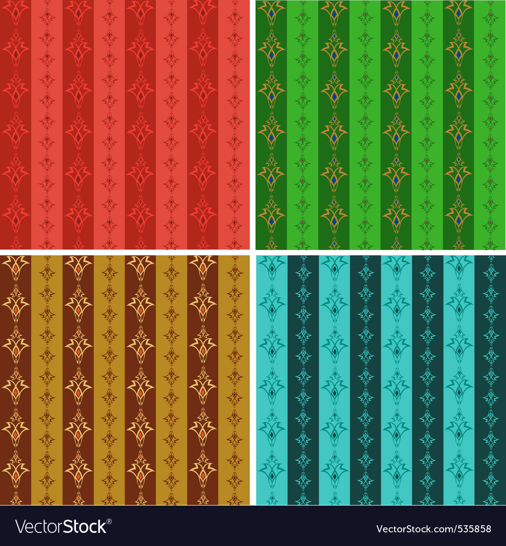 Set from abstract seamless wallpaper in different