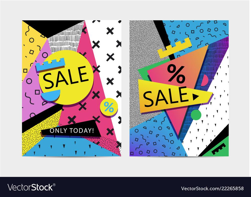 Set of sale banners brochures signboards