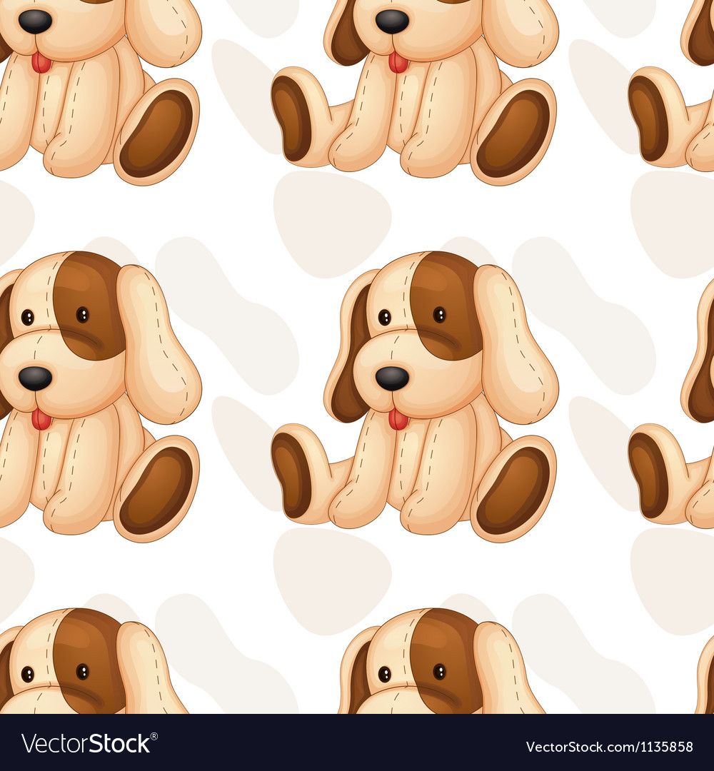 Soft toy vector image