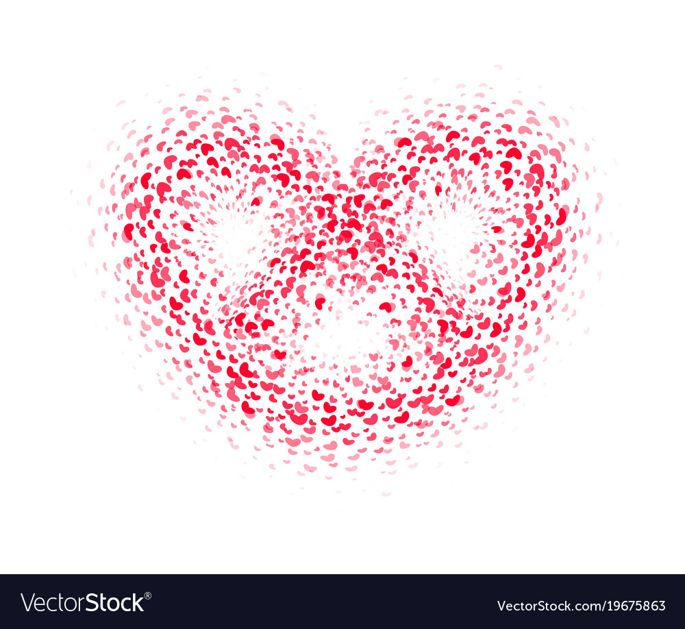 Abstract red carpet heart romance symbol
