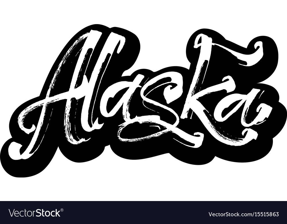 Alaska sticker modern calligraphy hand lettering