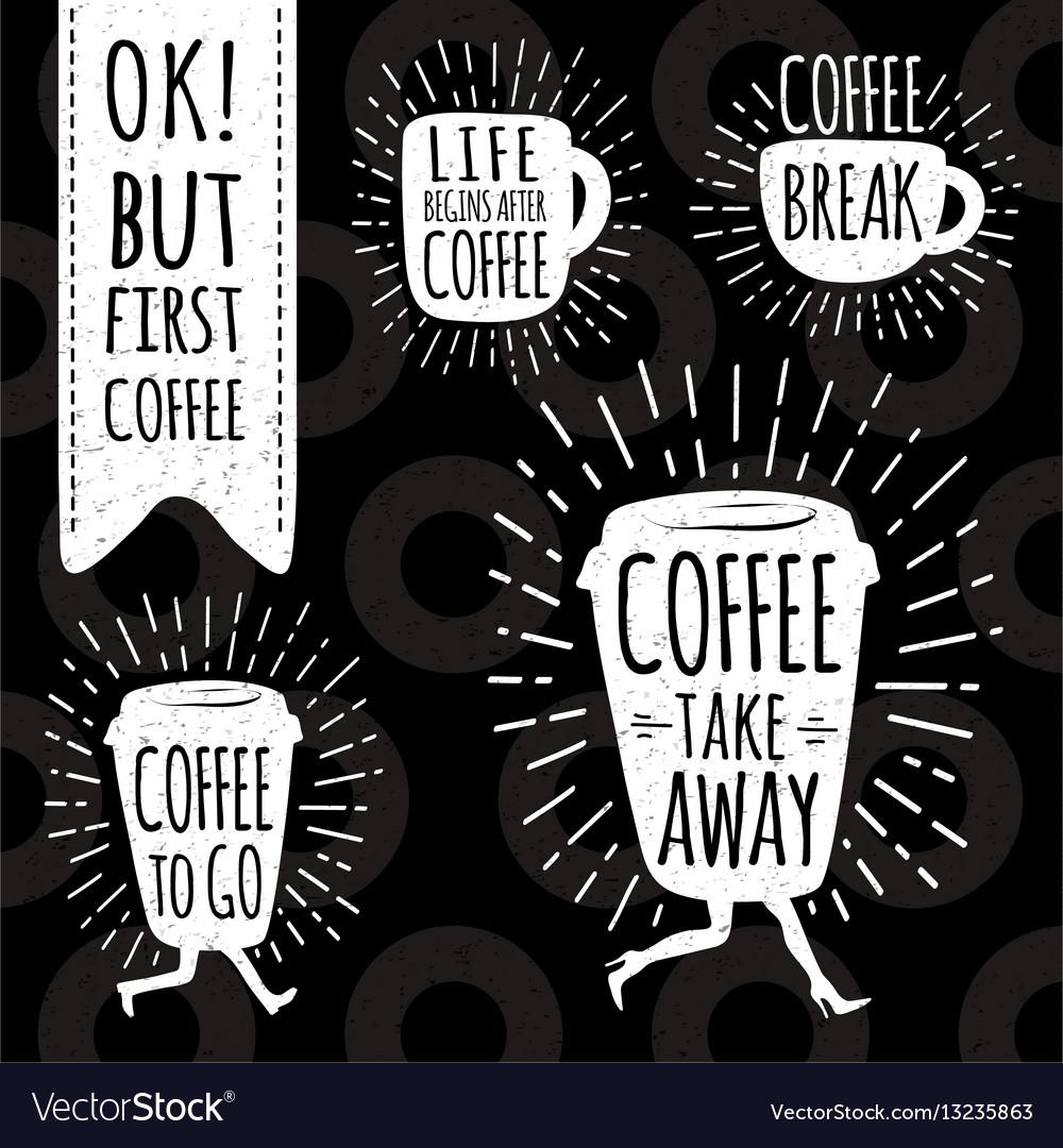 Coffee trendy set