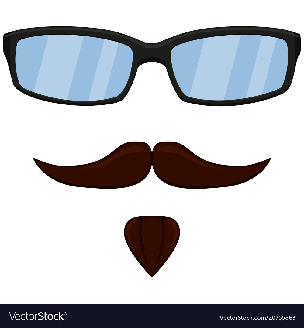Colorful cartoon man hipster avatar set